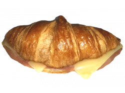 Croissant jamón queso