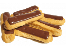 Éclair de chocolate